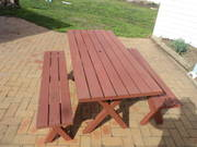 Picnic table and bench seats