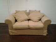 For sale 2 x Toorak 2 seaters Panama Chino sofas